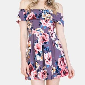 speechless off the shoulder dress